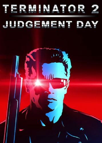 1990's Movie - TERMINATOR 2 POSTER STYLE canvas print - self adhesive poster - photo print